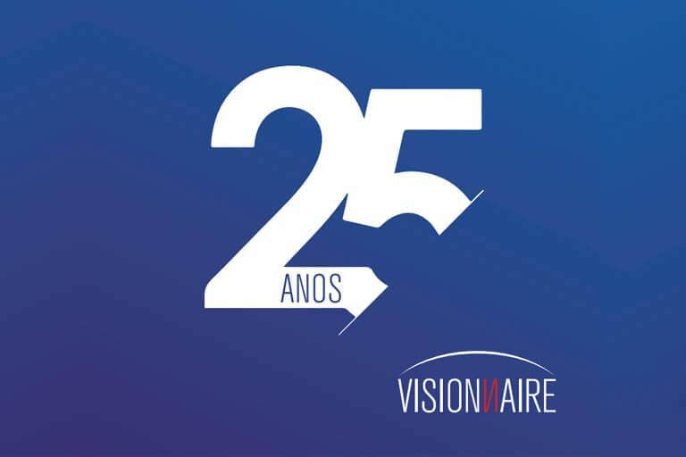 A Visionnaire está fazendo 25 Anos! - Visionnaire | Fábrica de Software