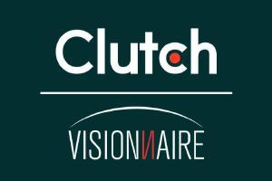 Visionnaire está honrada em receber sua primeira revisão na plataforma Clutch! - Visionnaire | Fábrica de Software