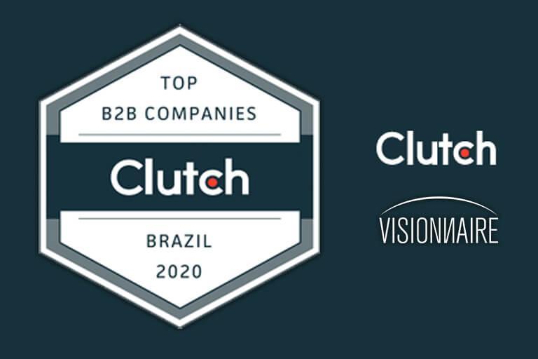 Visionnaire Tecnologia Premiada como Melhor Desenvolvedora de Software no Brasil pela Clutch!