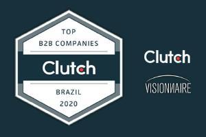 Visionnaire Tecnología premiado como Mejor Desarrollador de Software en Brasil por Clutch! - Visionnaire | Fábrica de Software